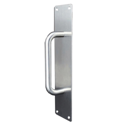 Handle Solid Pull 150x16mm with Plate 300x75x2mm - SSS